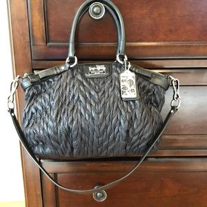 Coach nylon ruched handbag